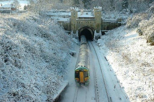 Train operators have faced problems in this morning's snowy conditions
