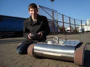Teenage inventor's robot success