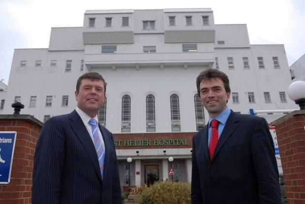 Paul Burstow with Carshalton and Wallington MP Tom Brake outside St Helier Hospital