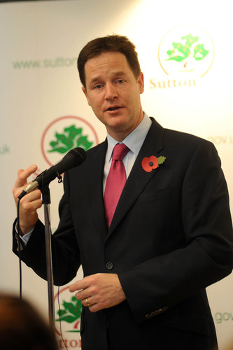 VIDEO: Nick Clegg opens Sutton Life Centre