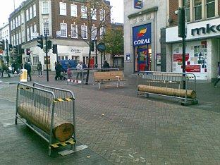 Sutton high Street during the works