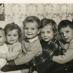 Karen Kennedy (3rd from right) as a child with her siblings.