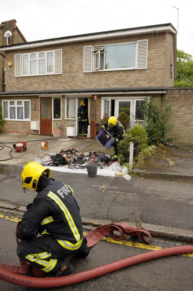 Fire in Spencer Hill Road, Wimbledon