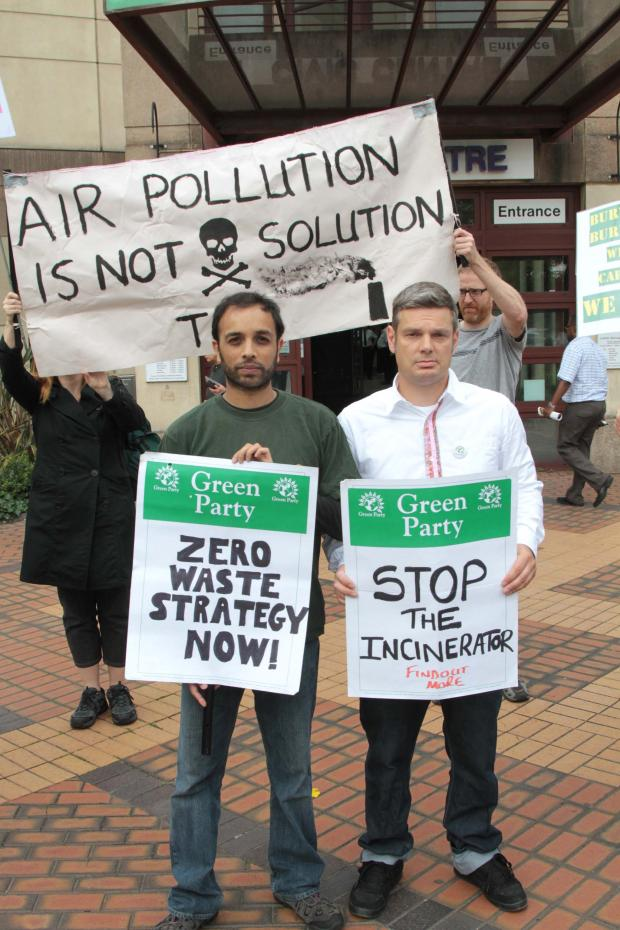 The Green Party have backed the fight against the incinerator