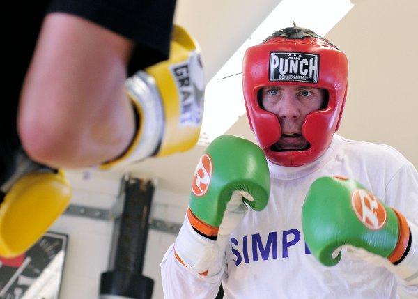 Fighting fit: Chas Symonds in training this week