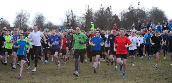 Off and running: More than 700 athletes started the Bushy Park parkrun last Saturday