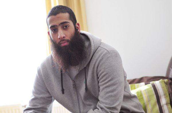 Shahid Saleem, 21, from Croydon, has a beard for religious reasons
