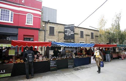 Tasty food treats on offer at Venn Street Market in Clapham Common