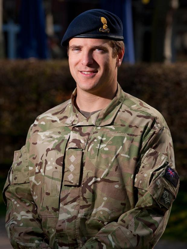 Dominic Riley, from Sutton, has returned from Afghanistan