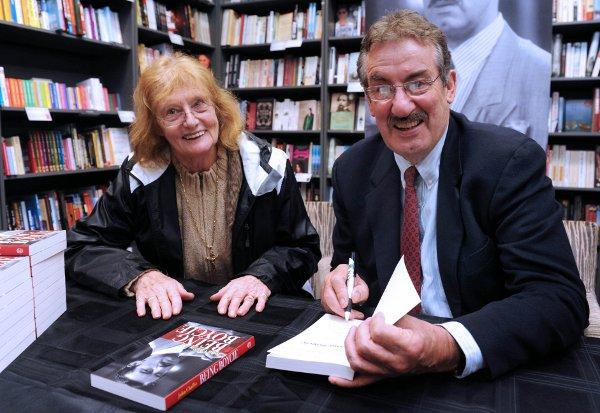 John 'Boycie' Challis with a fan in Sutton