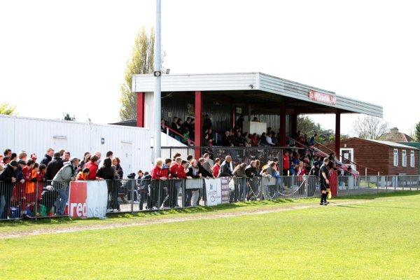 Two sides to the tale: One stand looks full at Colston Avenue on Saturday