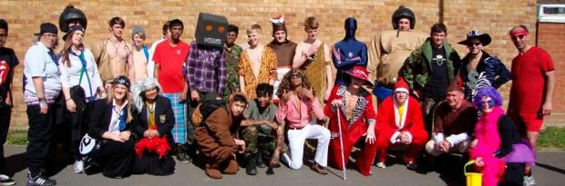 Southborough High School pupils dressed up for rag week