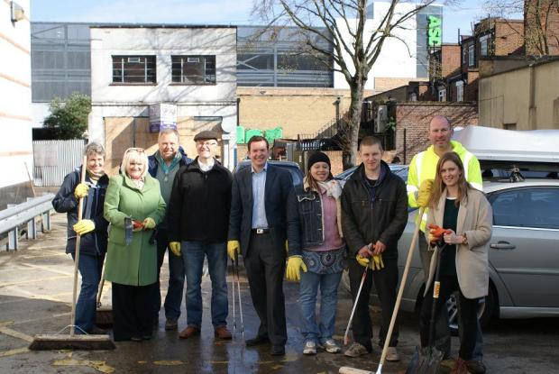 Businesses clean up Sutton
