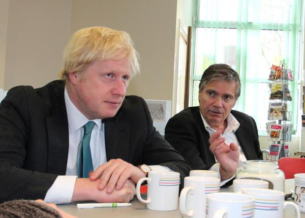 Sutton Guardian: Boris Johnson and Steve O'Connell on the campaign trail