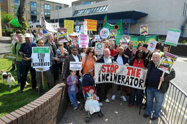 Campaigners against the planned incinerator