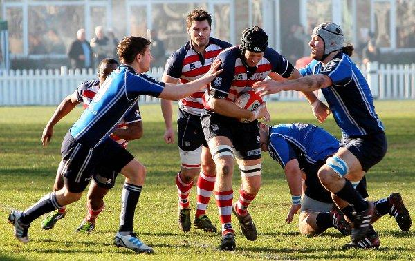 Last words: Rosslyn Park skipper Mark Lock, in action earlier this season, has called time on a rugby career that saw him play in the Premiership and Heineken Cup for London Wasps before he joined Park three years ago. Courtesy: David Whittam
