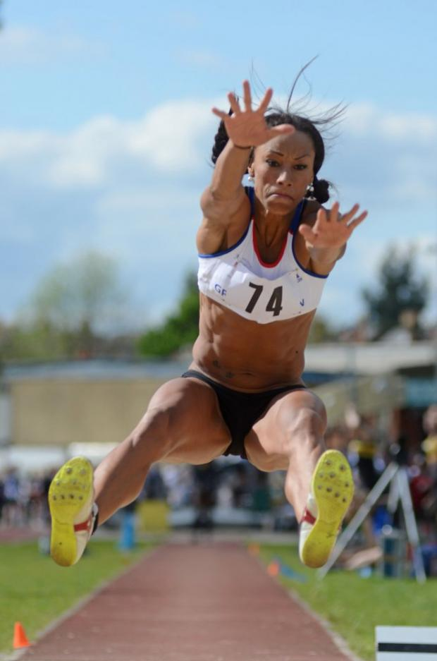 Big leap: Jade Johnson