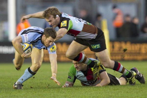 Bit part: former Quins skipper, in action against Newcastle Falcons, has been a bit part player this season