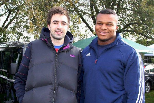 Full of potential: Croydon Harriers Martyn Rooney and Lawrence Okoye