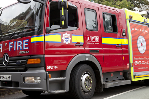 Firefighters prevented from tackling blaze by cars blocking Lynmouth Avenue, off Stonecot Hill