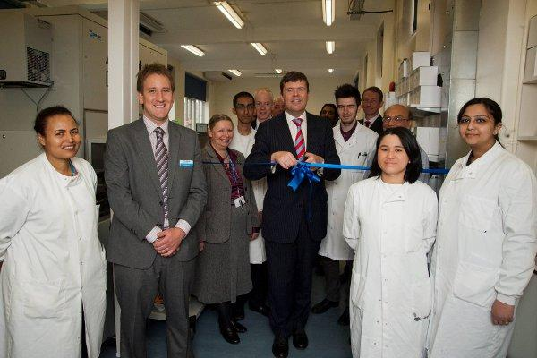 In May last year new state-of-the-art pathology equipment was unveiled at St Helier Hospital