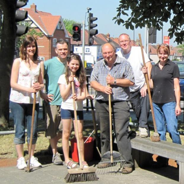 Volunteers gave Sutton a facelift for the big events