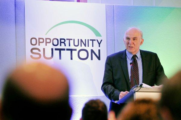 Vince Cable at the Opportunity Sutton event