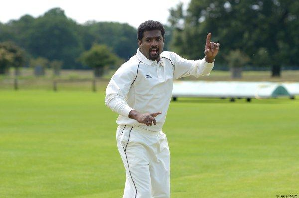 Star man: Muttiah Muralitharan filming a TV commercial at Teddington CC on Tuesday Picture: Hasan Mufti