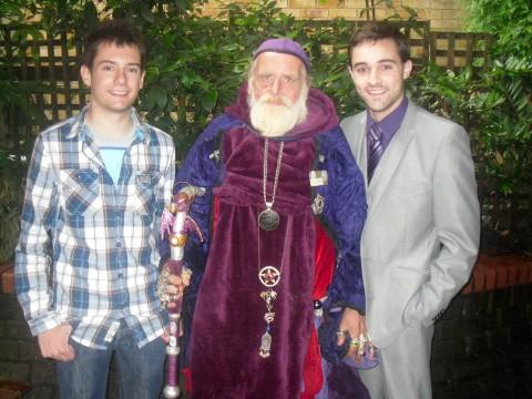 Teens with Sutton's Wizard Man Conrad Pugsley
