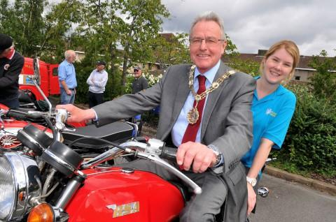 Mayor Sean Brennan and Susannah Forland the events organiser at St Raphael's Hospice