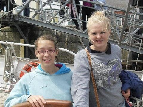 Sophie and Caitlyn onboard TS Royalist