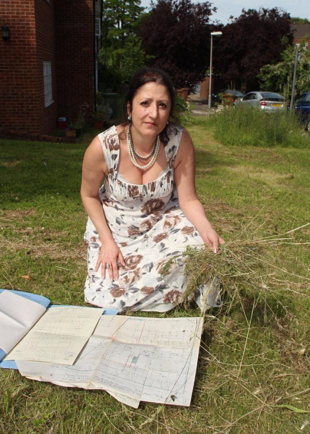 Jane Ray claims Sutton Council workers have destroyed her garden