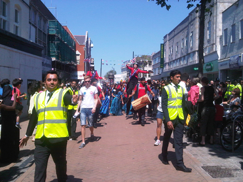 Olympic Torch Relay in Croydon