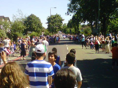 Rosehill torch crowd