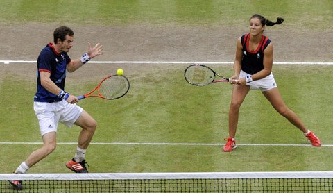 Laura Robson and Andy Murray Olympics tennis mixed doubles quarter-final