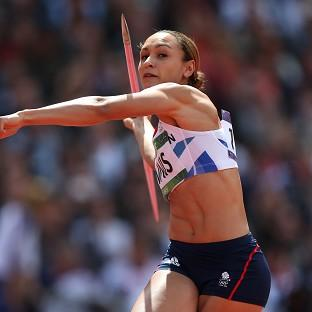 Great Britain's Jessica Ennis has won gold in the heptathlon at the Olympic Stadium