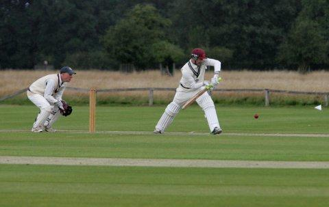 Standing firm: James Wade in action against Stanmore on Saturday