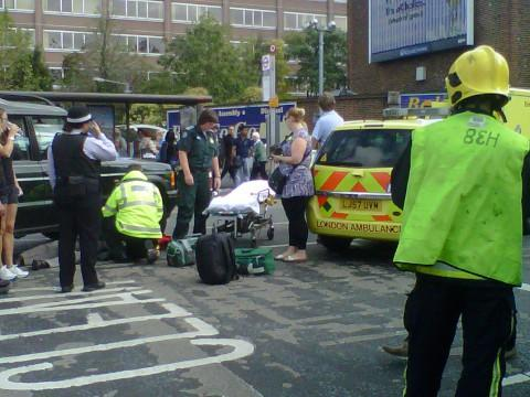 Crash outside Sutton station