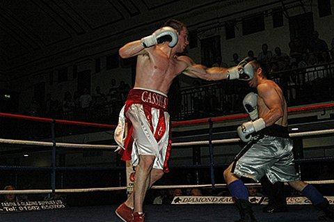 Gloved star: Danny 'Cassius' Connor in action earlier this year