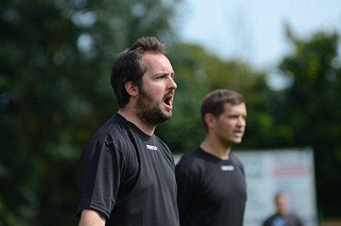 Defensive Brady: the Leatherhead manager praised his silent heroes in defence   SP68715
