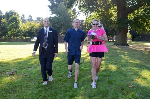 Runaway bride, groom and vicar spotted in Nonsuch Park