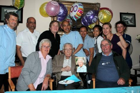 Dancing fan Victor Wyatt celebrates 100th birthday