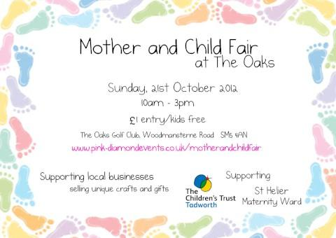 Fair for mums and children in Carshalton to raise money for the Children's Trust