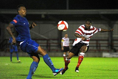 At the double: Ks striker Andre McCollin has been on fire for boss Alan Dowson's men