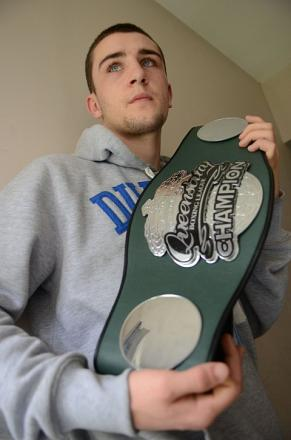 This belt's mine: Kingston's Danny Parsons with