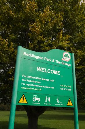 The incident happened in Beddington Park yesterday