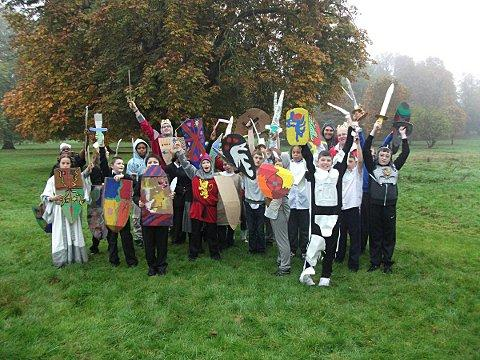Carew manor pupils re-enact Battle of Hastings