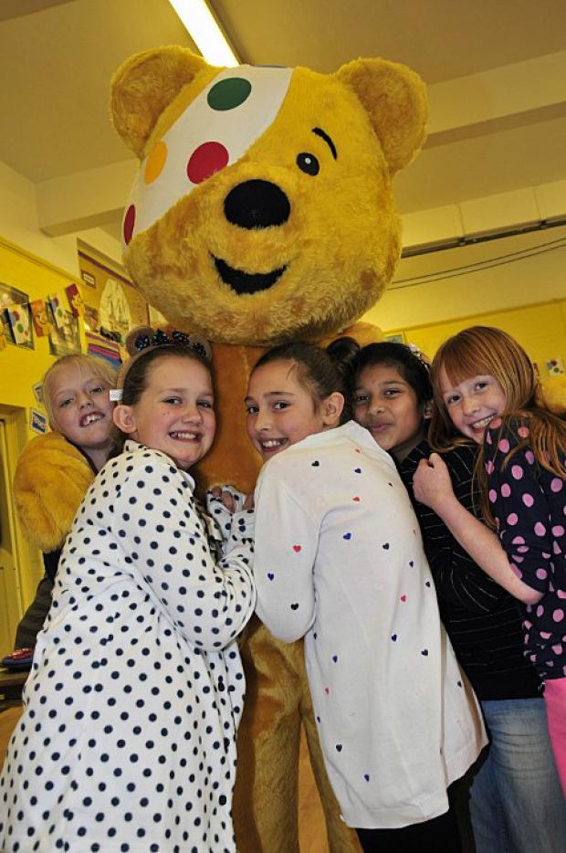 Pudsey visits junior school
