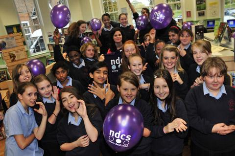 Students at Carshalton High School for Girls take part in Fingerspellathon