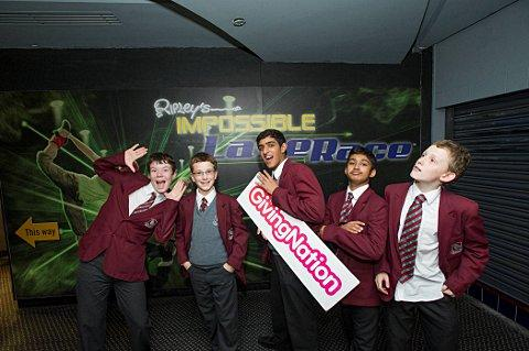 Sutton Grammar School for Boys students visit treasury after raising cash for charity PEAS